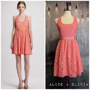 Alice + Olivia - Odette Lace Crossback dress, NWT